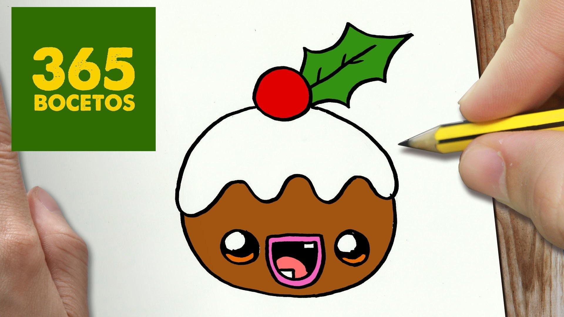 Como Dibujar Un Cuaderno Para Navidad Paso A Paso Dibujos: COMO DIBUJAR UN GALLETA PARA NAVIDAD PASO A PASO: Dibujos