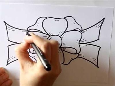 Cómo dibujar un Lazo o Moño para Regalo Dibuja Conmigo Dibujos de Navidad