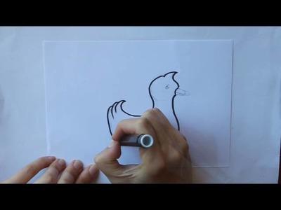 Cómo dibujar un Pato Dibuja Conmigo Dibujos de Animales