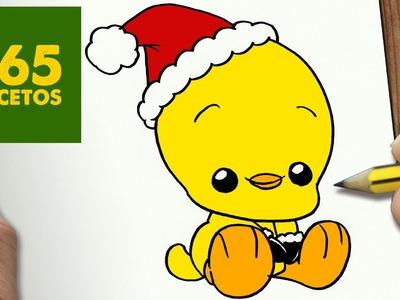 COMO DIBUJAR UN PIOLIN PARA NAVIDAD PASO A PASO: Dibujos kawaii navideños - How to draw a Tweety