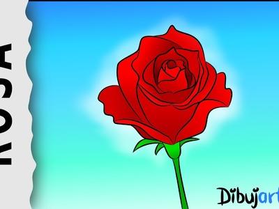 Cómo dibujar una Rosa #1 - Serie de dibujos de Rosas