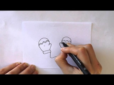 Cómo dibujar unos Guantes de Invierno Dibuja Conmigo Dibujos de Invierno
