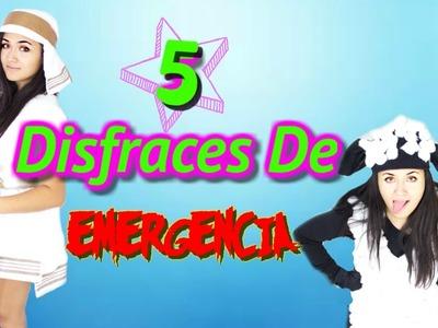 5 DISFRACES DE EMERGENCIA QUE TE VAN A ENCANTAR - HALLOWEEEN DIY DISFRAZ