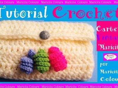 Cartera. Purse a Crochet Bolso por Maricita Colours