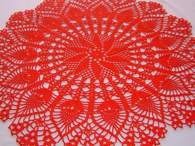 Centro de mesa a crochet tutorial completo DIY parte 1.4