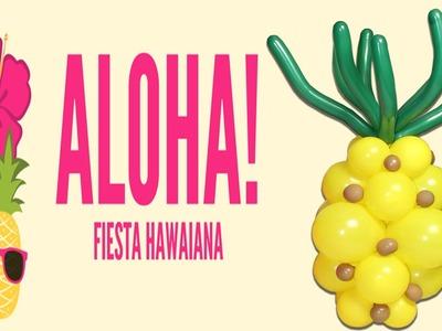 Como hacer una PiñaPineapple Hawaiana Piña Tiky Party DIY