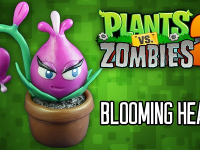 DIY BLOOMING HEART Cold Porcelain. Polymer Clay Tutorial | PLANTS VS ZOMBIES 2