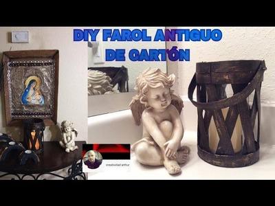 DIY FAROL ANTIGUO  DE CARTON
