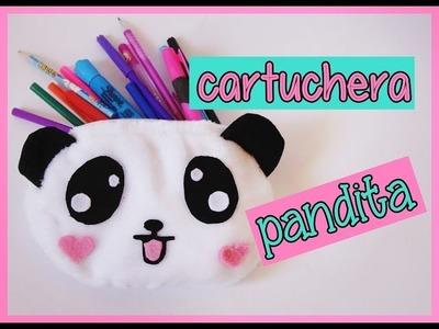 Diy regreso a clases cartuchera de panda kawaii