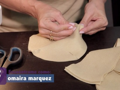 DIY Sombrero en paño lency decorado con flor - OmairaTV