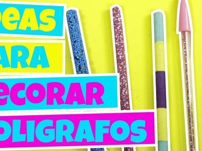 Ideas para DECORAR tus BOLIGRAFOS  DIY - decora tus útiles