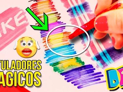 ¡¡ROTULADORES MÁGICOS CASEROS!! * Plumones o marcadores DIY que CAMBIAN DE COLOR