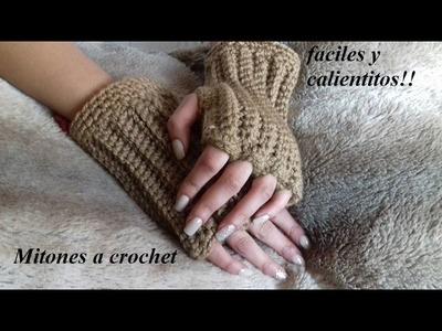 Mitones a crochet (juego del gorro)