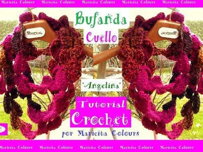 "Bufanda a crochet Tipo Encaje ""Angelina"" por Maricita colours"