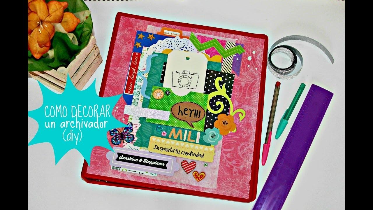 Como decorar tu carperta de clases-personalizada -SCRAPBOOKING