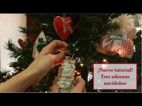 Cómo hacer adornos navideños con telas - Christmas tree decorations | Tutorial patchwork