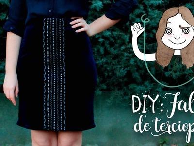 DIY: Falda de terciopelo elástica bordada velvet I DIYpnotizada