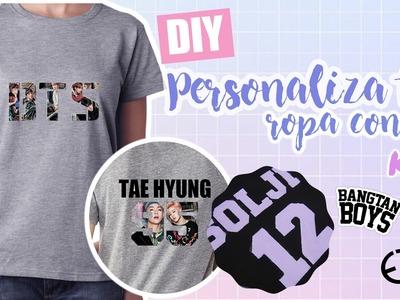 DIY K-POP : Personaliza tu ropa con BTS y EXID!