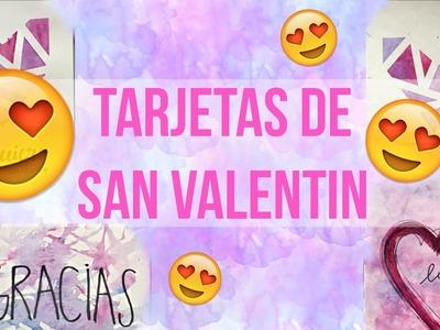 DIY: TARJETAS DE SAN VALENTIN SUPER FACILES