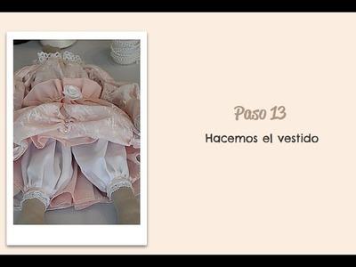 Paso 13  - Hacemos el vestido - Muñeca Angy  Diy - handmade Dolls