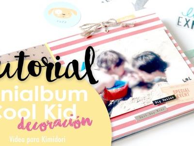 TUTORIAL Minialbum Cool Kid. Decoración