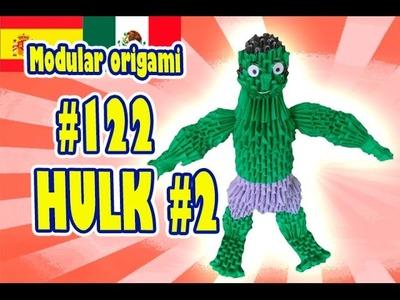 3D MODULAR ORIGAMI #122 HULK #2