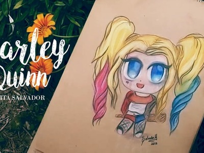 COMO DIBUJAR A HARLEY QUINN AL ESTILO kawaii.Chibi♡How to Draw Harley Quinn