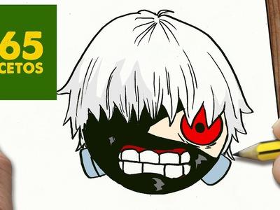 COMO DIBUJAR KANEKI TOKYO GHOUL KAWAII PASO A PASO - Dibujos kawaii fáciles