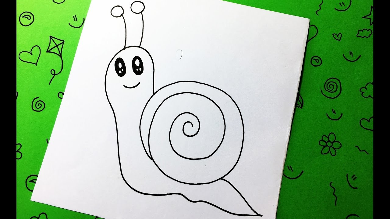 how to draw a snails