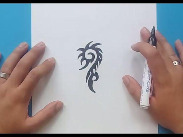 Como dibujar un tribal paso a paso 158 | How to draw one tribal 158