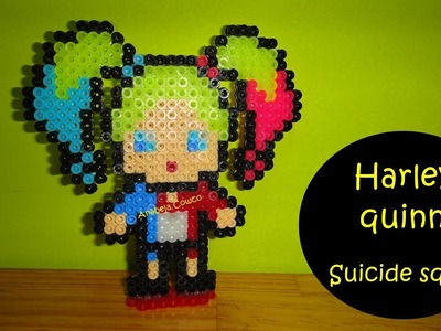 Cómo hacer a HARLEY QUINN de hama beads SUICIDE SQUADS perler beads