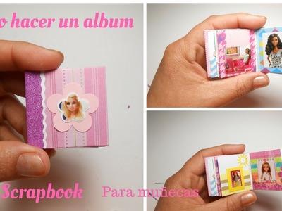 Como hacer un album de Scrapbook para muñecas