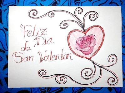 Dibujos para San Valentin 3.3 - Dibujar un corazón con letras