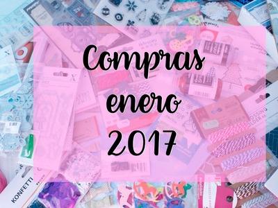 Haul de Enero 2017 - Compras de Scrapbooking en rebajas || Mitiendadearte, kimidori, tiger.