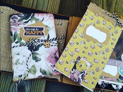 Organizador Personal - Parte 2: Libreta y Cuaderno * Tutorial Scrapbooking 12*