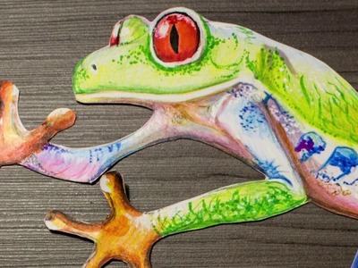 Speed Draw 3D frog. Dibujando Rana 3D