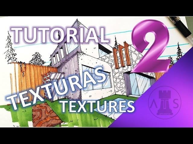 TEXTURAS PARA DIBUJOS ARQUITECTÓNICOS - TEXTURES FOR ARCHITECTURAL SKETCHES - TUTORIAL pt. 2