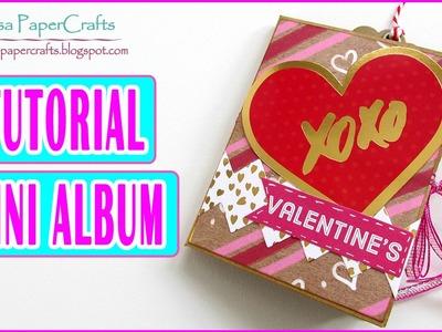 Tutorial Mini Album con una hoja de Scrapbook para San Valentín | Scrapbooking Luisa PaperCrafts