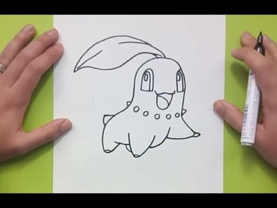 Como dibujar a Chikorita paso a paso - Pokemon | How to draw Chikorita - Pokemon