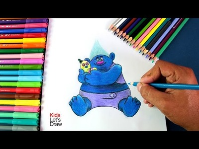 Como dibujar a Grandulón y Sr. Peluche de TROLLS | How to draw Biggie and Mr  Dinkles