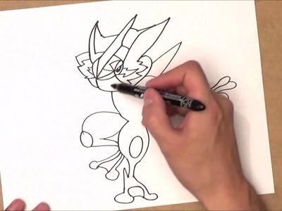 Como dibujar a greninja | como dibujar a greninja paso a paso