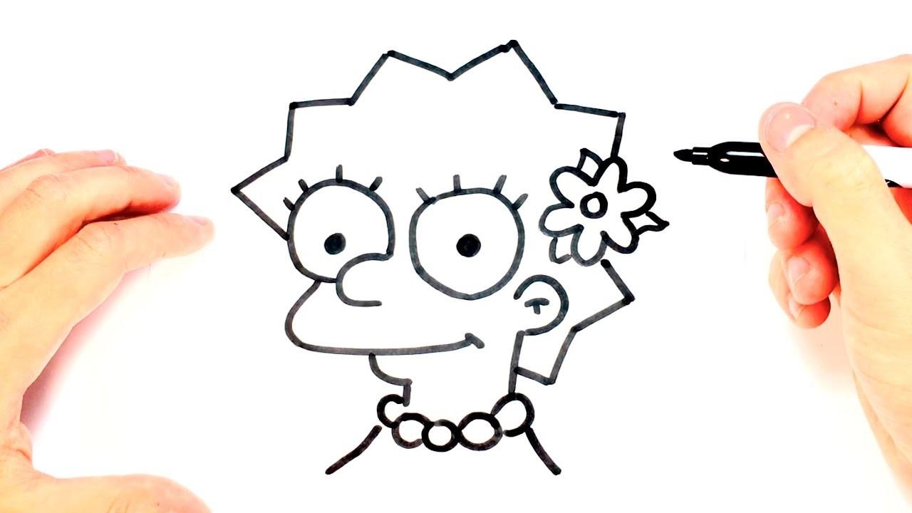 Dibujos Para Colorear Faciles De Hacer De Piolin: Como Dibujar A Lisa Simpson Paso A Paso, Dibujo Facil De