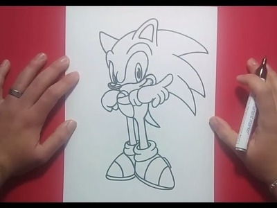 Como dibujar a Sonic paso a paso 2 - Sonic | How to draw Sonic 2 - Sonic