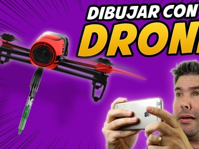 COMO DIBUJAR CON UN DRONE - How to draw with a drone - drone fail