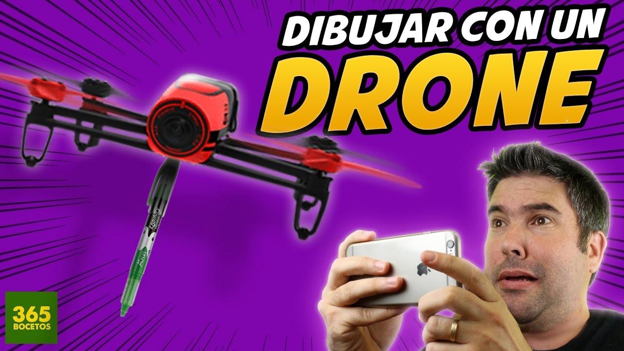 COMO DIBUJAR CON UN DRONE - How to draw with a drone - drone fail