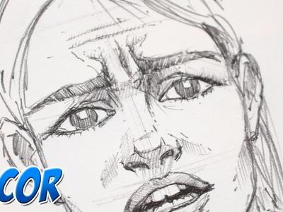 Como Dibujar Expresiones - Miedo