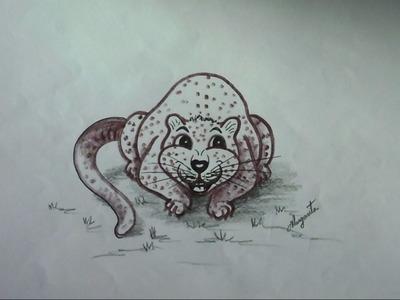 Como Dibujar un Jaguar. Dibujo Infantil. Caricatura.