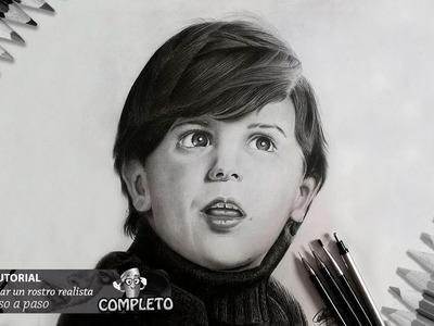 Como dibujar un rostro realista a lápiz paso a paso FACIL