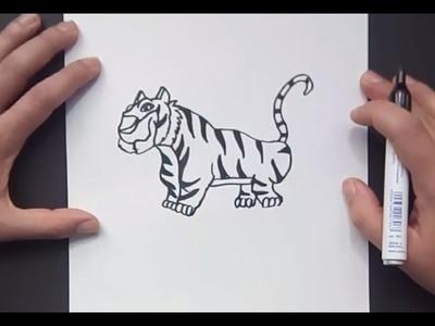 Como dibujar un tigre paso a paso 8 | How to draw a tiger 8