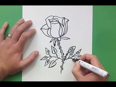 Como dibujar una rosa paso a paso 10 | How to draw a rose 10